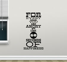 Quote Wall Decal For Every Minute Poster Vinyl Sticker Motivation Decor 77hor