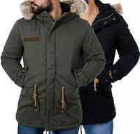 young & rich jacke military parka look slimfit