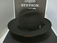 STETSON STRATOLINER SAGE GREEN FUR FELT C-CROWN DRESS HAT