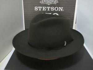 STETSON STRATOLINER SAGE GREEN FUR FELT C-CROWN DRESS HAT