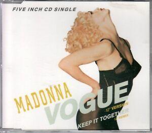 Madonna CD-SINGLE  VOGUE     ©  1989
