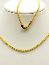 21k Solid Yellow Gold Wheat Necklace / Chain 8.37 Grams