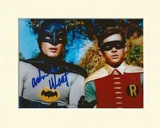 ADAM WEST BATMAN BRUCE WAYNE COLOUR PP 8x10 MOUNTED SIGNED AUTOGRAPH PHOTO
