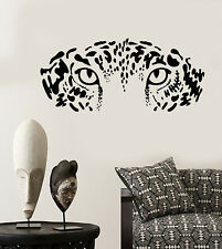 Vinyl Wall Decal Eyes Wild Big Leopard Predator African Animal Stickers (2049ig)