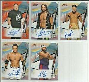 2020 TOPPS WWE AUTO, AUTO RELIC & RELIC LOT OF 22