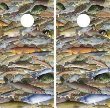 Cornhole Board Wrap Skins Vinyl Fish Crappie Bass Catfish Trout Gar Carp