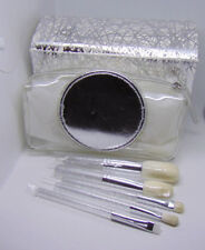 M.A.C Brush Kit Face Powder Cheek and Eye Makeup 5 Brushes + Pouch