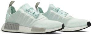 New Adidas NMD R1 *Mis-Mate* Women Sz. L7-R7.5 Running Shoes Aqua/Grey EE5181