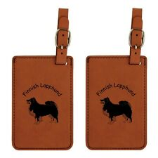 L3188 Finnish Lapphund Luggage Tags 2Pk Free Shipping 200 Breeds Available