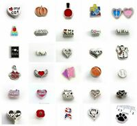 hot 10pcs Mixed Style Floating Charms For Glass Living Memory Floating Lockets