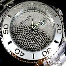 Invicta Grand Diver 1.96CTW Diamond Pave Steel Automatic 54mm Watch New