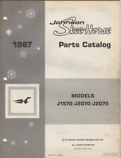 1967 JOHNSON SKEE-HORSE SNOWMOBILE PARTS MANUAL