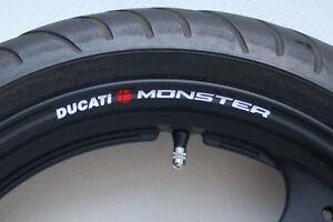 8 x DUCATI MONSTER Wheel Rim Stickers Decals - Colours - m796 900 1000 m s st4