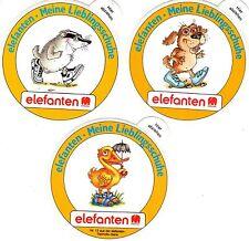 3 Aufkleber elefanten - Meine Lieblingsschuhe - Tiermotivserie - Sticker  (60)