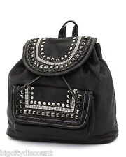 LADIES/WOMANS BLACK BACKPACK SOLID BLACK  *** GREAT QUALITY***GREAT PRICE****