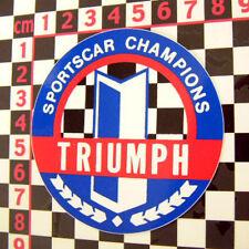 Triumph SCCA Champions Sticker - Spitfire TR6 GT6 TR4
