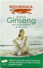 4 X Red Kooga Ginseng Coreano Con Multivitaminas Y Minerales 32 tabletas