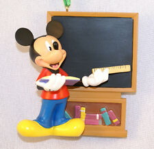 "Mickey School Teacher at Chalkboard 3-3/4"" Christmas Ornament Disney Parks 2011"