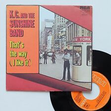 "Vinyle 45T K.C. and the Sunshine Band  ""That's the way (I like it)"""