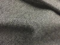 """Black White Wool Fabric 58"""" Width Sold By The Yard Yard"""