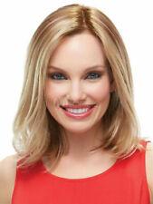 100% Human Hair Natural Medium Straight Light Blond Fashion Women's Wig