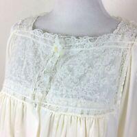 Vintage CHRISTIAN DIOR Bridal Peignoir Set Silk Blend Ivory Satin Lace Small