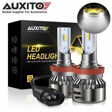 AUXITO H11 LED 6000K CSP Headlight Bulb Kit High Power Low Beam H8 Xenon White P