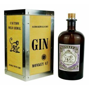Monkey 47 93,98 €/l Schwarzwald Dry Gin in Holzbox 47% 0,5 Liter