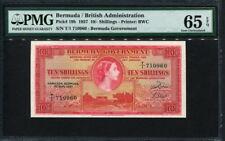 Bermuda 1957, 10Shillings, P19b, PMG 65 EPQ GEM UNC
