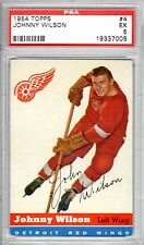 1954 Topps Hockey Johnny Wilson PSA 5 Ex # 4