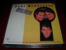 """PAUL MCCARTNEY / BEATLES spies like us ( rock ) 7""""/45 picture - WHITE LABEL -"""