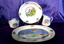 MEIWA THE NIGHT BEFORE CHRISTMAS Cream Sugar Platter Serving Bowl Dishes