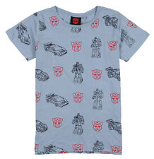 COTTON ON Transformers G1 Autobot All Over Print T-Shirt sz 10 Ash Blue Red