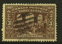 Canada Scott #135, Singles 1917 Complete Set FVF Used