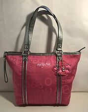 Coach Poppy Bandana Glitter Tote Shoulder Bag F15709 Pink