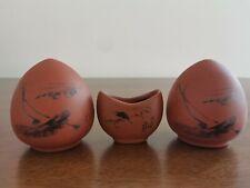1set 3pcs Asian Bamboo Bird Cage Mandarin Duck Pottery porcelain ceramics cups