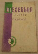 1938 Alexandra Theatre: Diana Caird Peter Rosser in THE AMAZING DR CLITTERHOUSE
