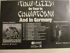 Thin Lizzy, German Tour, Vintage Promotional Ad, Boomtown Rats