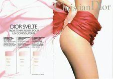 Publicité Advertising  0817  1994  Dior (2 p)  cosmètiques corps Svelte