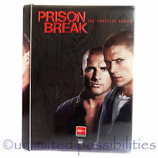 PRISON BREAK The Complete Series Season 1 - 4  23 Disc Set DVD 2009 in Tin Can