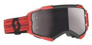 Scott 2022 Fury Motocross Goggles Dark Red With Silver Chrome Works Lens New
