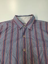J.Crew Mens M Medium Secret Wash point collar double awning stripe button front