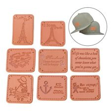 9Pcs Embroidery Sew Leather Badge Patch Hat Clothes Jeans Applique Decor