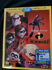 The Incredibles,2 Disc, Blu-ray +Dvd W/Slipcover, No Digital, Lot B1.