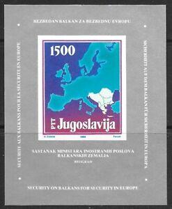 1988 Yugoslavia miniature sheet featuring Foreign Affairs Ministers' Meeting UMM