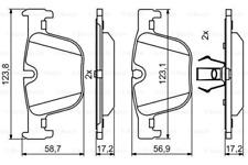 Bremsbelagsatz, Scheibenbremse für Bremsanlage Hinterachse BOSCH 0 986 494 786