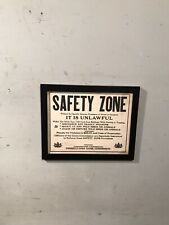 "Vintage Hunting Sign Pennsylvania Game Commission ""Safety Zone"" Cardboard 1972"