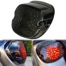Smoke Lens LED Tail Light Brake Turn Signal For Harley Tour Road King glide Dyna