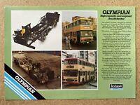 1985 Leyland Olympian Double Decker original British sales leaflet/brochure