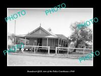OLD LARGE HISTORIC PHOTO OF BEAUDESERT QLD, VIEW OF THE POLICE COURT HOUSE c1940